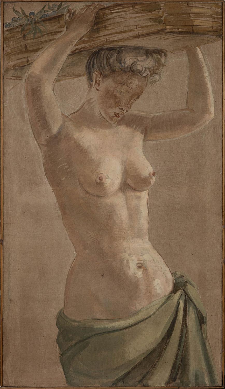 La porteuse de panier. Figure décorative. ©KIK-IRPA, Bruxelles