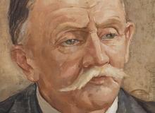 Portrait d'homme à la moustache blanche. ©KIK-IRPA, Bruxelles