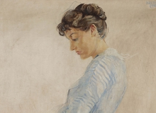 La femme en bleu. Madeleine Dubois. ©KIK-IRPA, Bruxelles