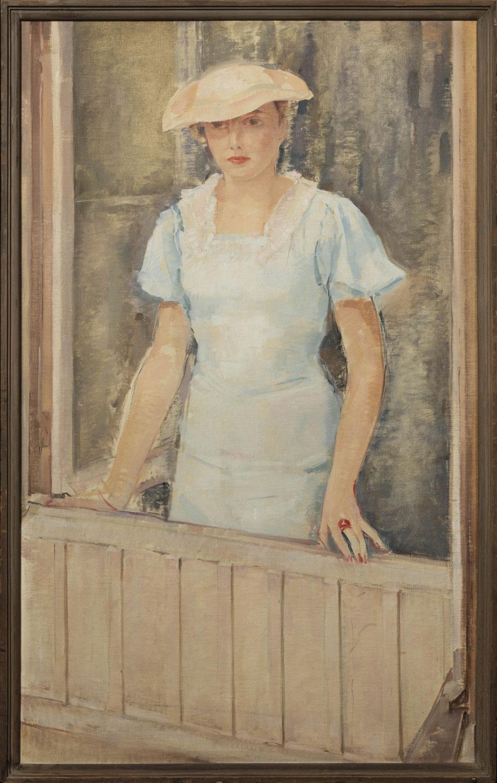 La femme à la fenêtre. Portrait de Francine Legrand. ©KIK-IRPA, Bruxelles