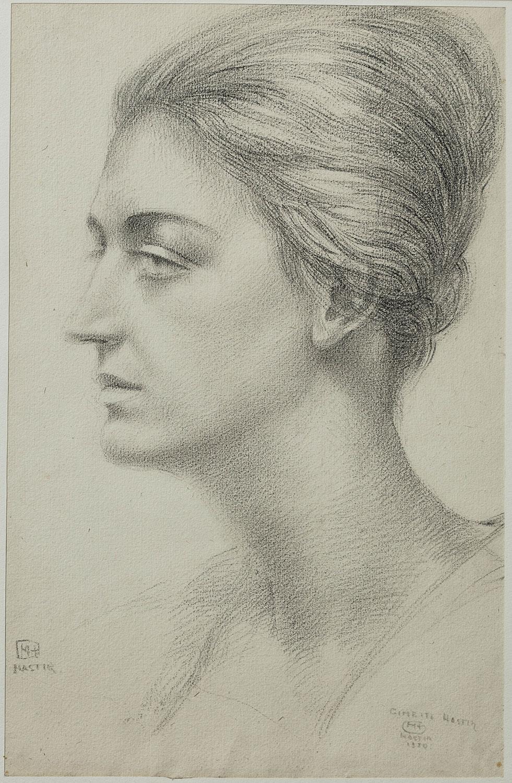 Portrait de Ginette van Ryckevorsel van Kessel-Hastir. ©KIK-IRPA, Bruxelles
