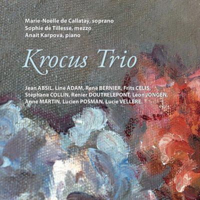 Le Krocus Trio présente son premier album, enregistré à l'Atelier MH : des oeuvres de compositeurs belges, dont plusieurs écrites pour elles