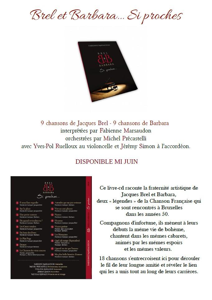 Brel et Barbara si proches, livre-CD par Fabienne Marsaudon